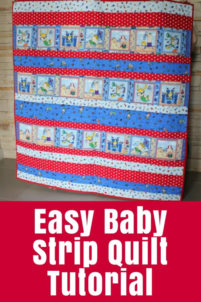 Find out how to sew a kid-sized quilt with this easy strip quilt tutorial - one of the easiest quilts I've ever made!