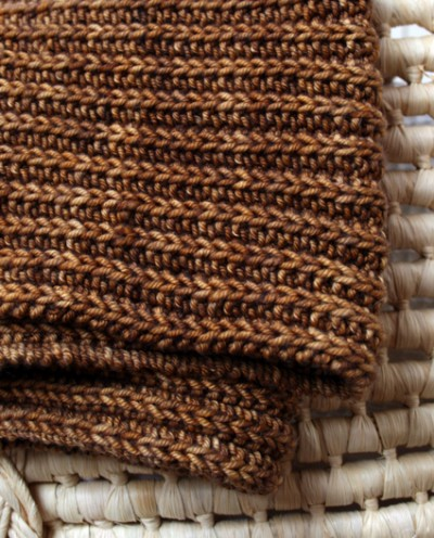 chunky baby blanket knit brown