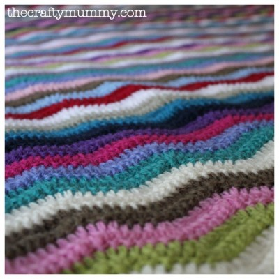 Simple Ripple Crochet Baby Blanket | AllFreeCrochetAfghanPatterns.com