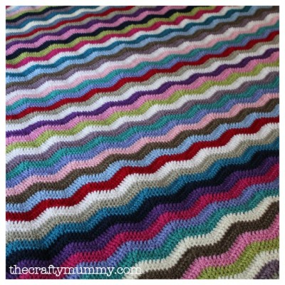 crochet ripple blanket rainbow chevron