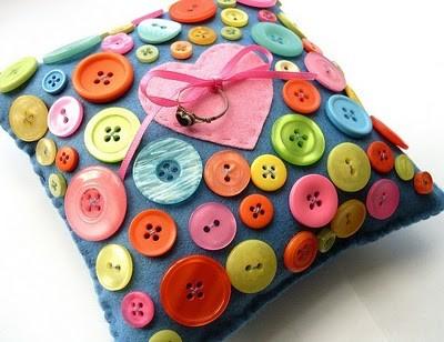 button ring cushion pillow pinterest