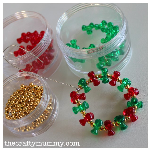 bead wreath tutorial 6