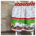 Christmas apron gingerbread house