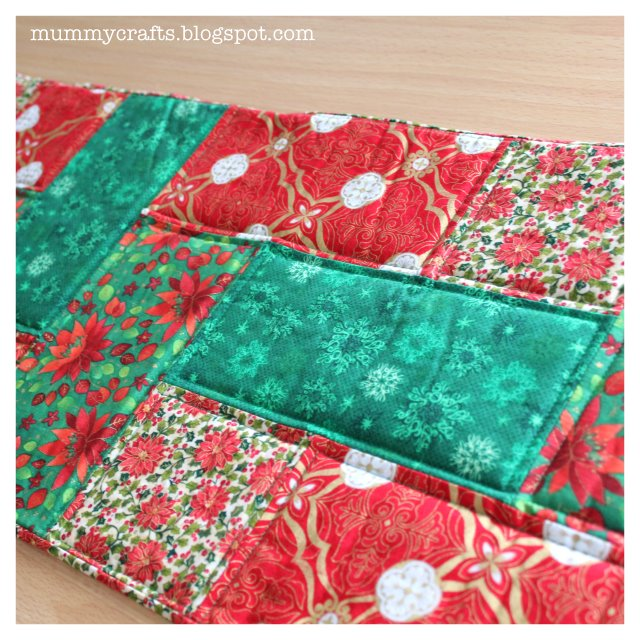 christmas table runner patchwork