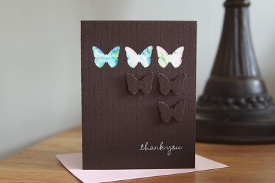 butterfly card the paper seed