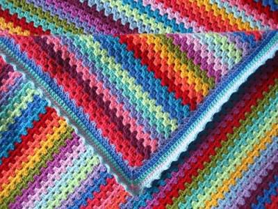 attic24 granny stripe blanket