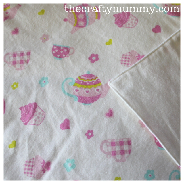 baby gift flannel wrap tutorial