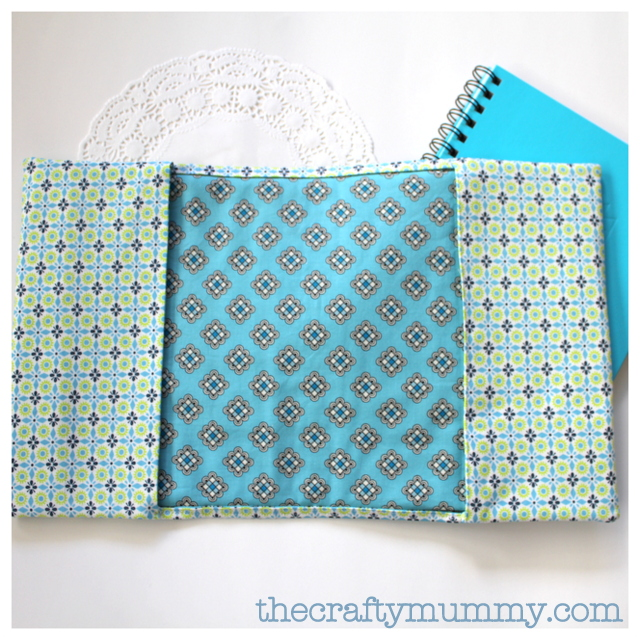 padded notebook cover