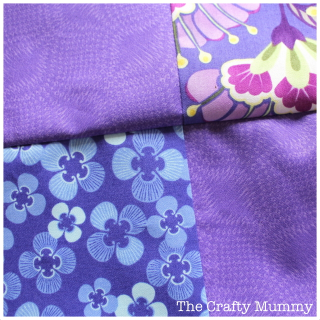 patchwork purple nested seams
