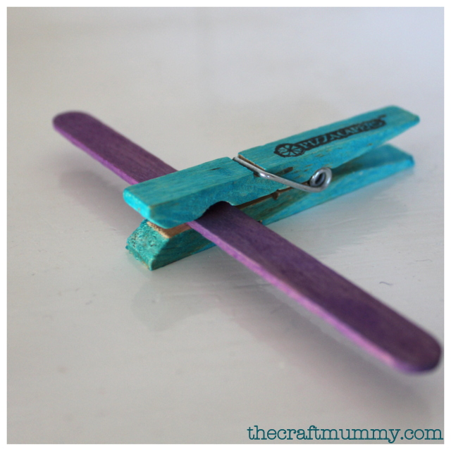 craft clothes peg airplane
