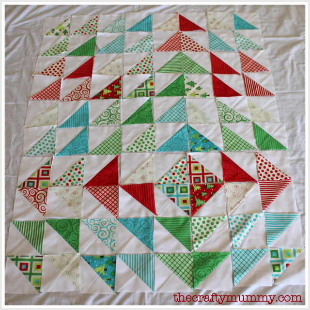 Christmas triangles quilt