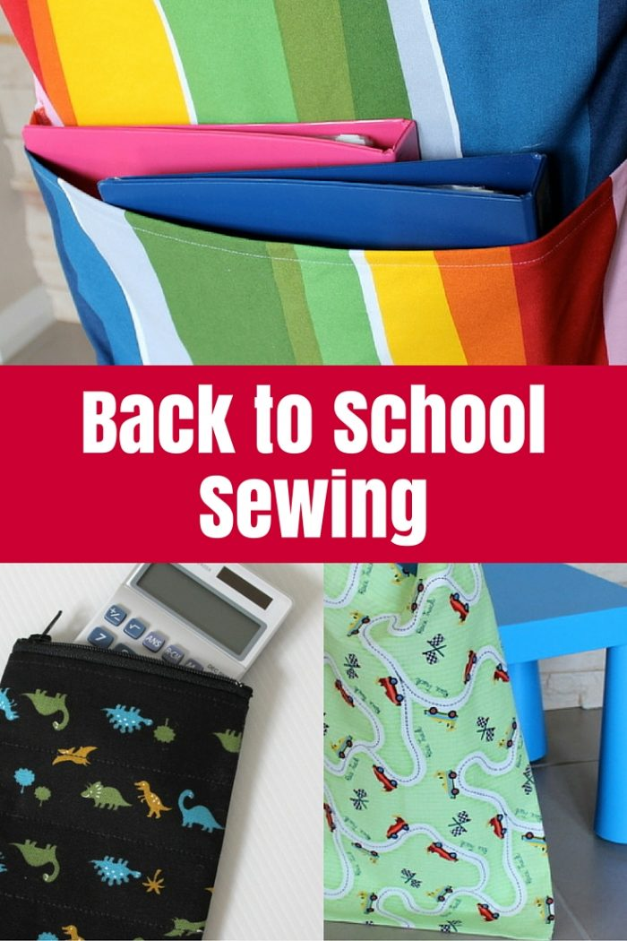 With school looming again, I've collected all the school sewing I did for my kids in one big post with links to tutorials.