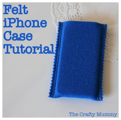 tutorial iphone case felt sewing