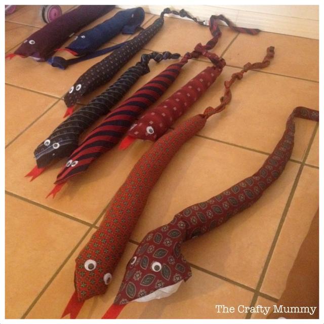 necktie snakes craft