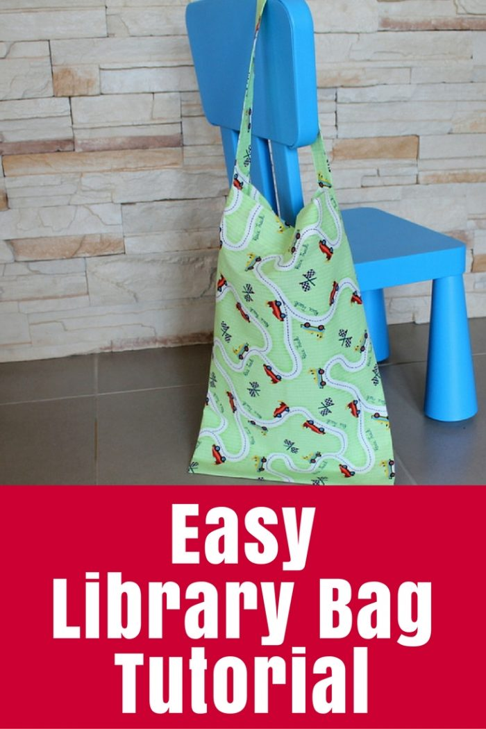 Sew a simple library bag for trips to the local library or to get your kids ready for school!