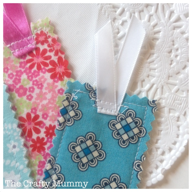 fabric scrap bookmark ribbon