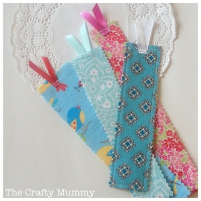 bookmarks scrap fabric