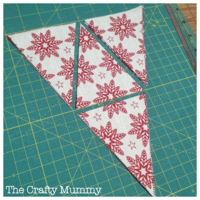 Christmas mini bunting tutorial