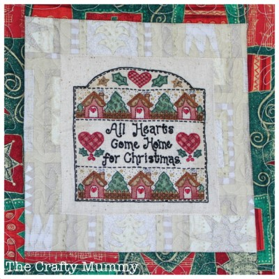 all hearts come home for Christmas stitchery