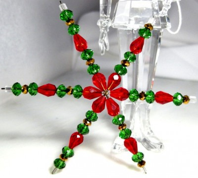 Christmas beaded star MsBsDesigns