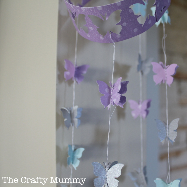 paper crafts butterfly mobile