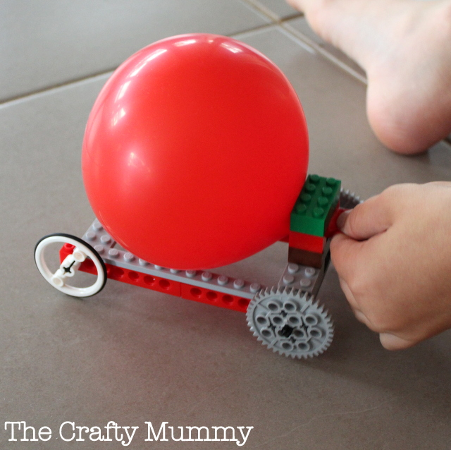 Cool Toys To Make : Balloon powered lego car the crafty mummy