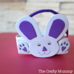 bunny rabbit easter basket from foam
