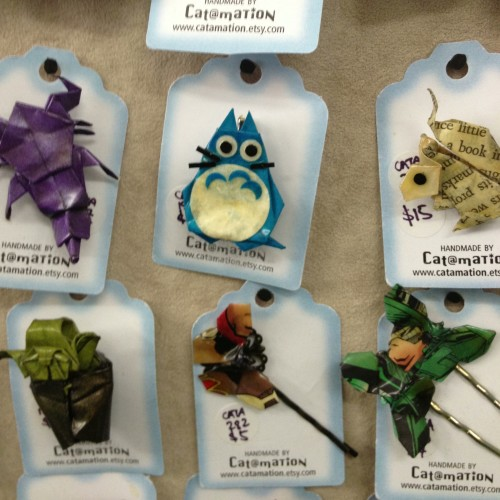 HH origami brooches