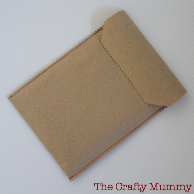 sew a brown paper envelope