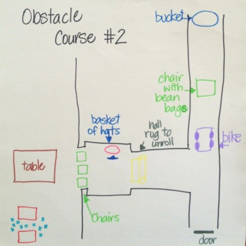 inside house obstacle course