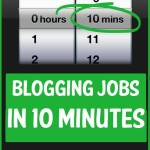 blogging jobs you can do in 10 minutes