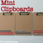 Mini Clipboards with Washi Tape