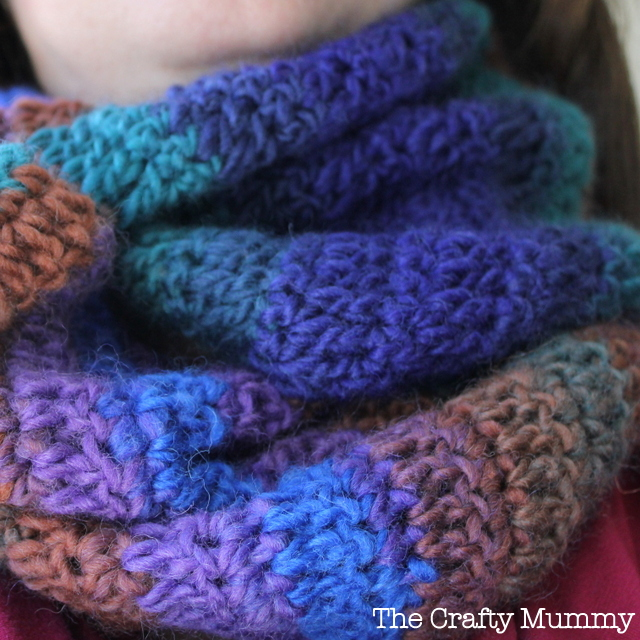 Crochet Infinity Scarf The Crafty Mummy