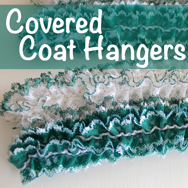 Check out the gorgeous covered coat hangers my Mum made for me, and find a collection of tutorials to cover coat hangers in other ways.