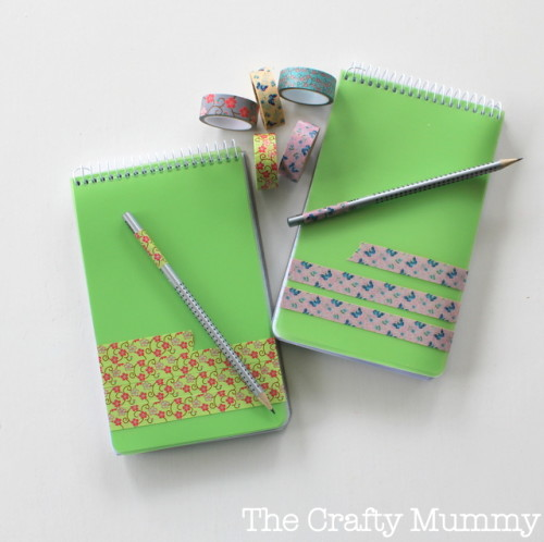 notebooks with washi tape