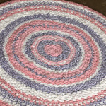 crochet a rag rug with fabric
