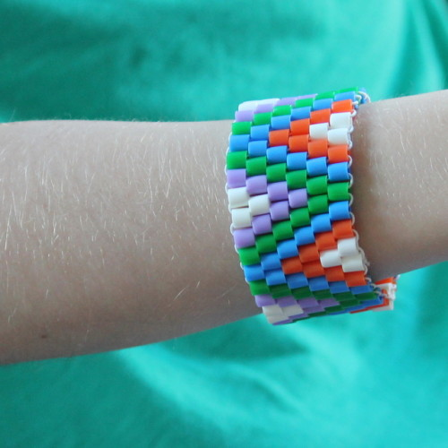 bracelets made with perler hama pyssla beads