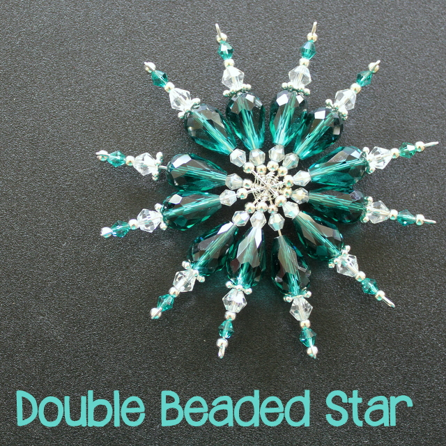 A tutorial to make a double beaded star or snowflake. Mine are for Christmas but they would be a lovely Winter decoration too.