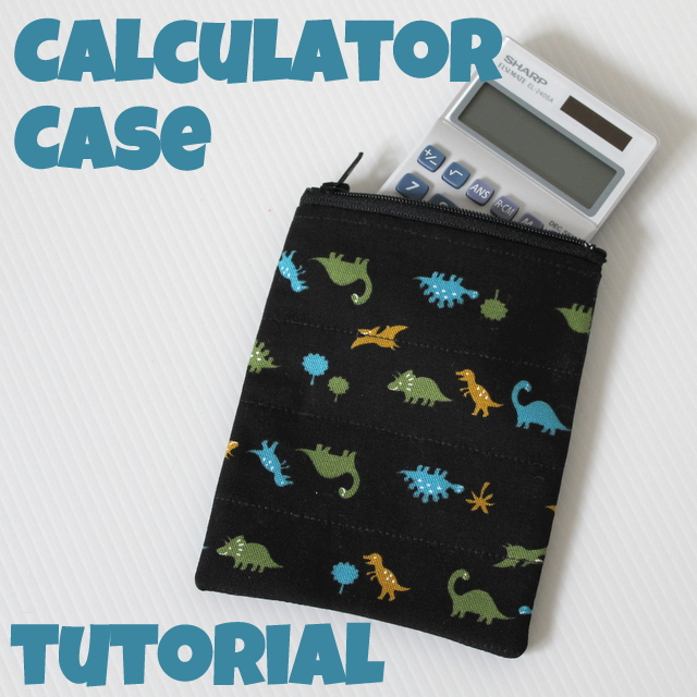 tutorial sew a calculator case with zipper