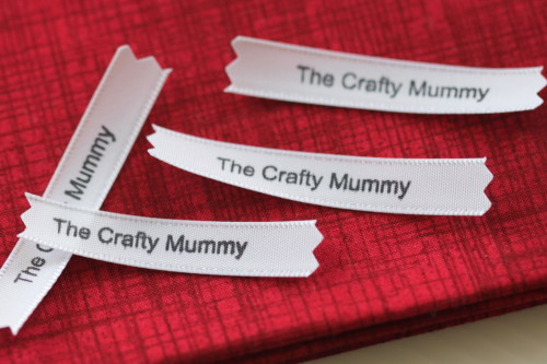 stamped ribbon product tags