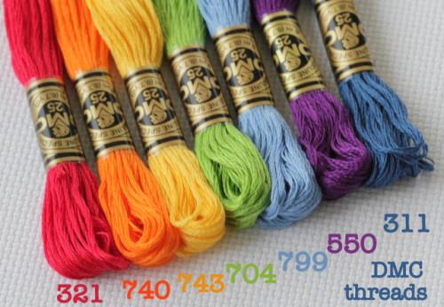 rainbow embroidery thread DMC
