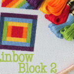 Cross Stitch Rainbow Block 2 - free chart