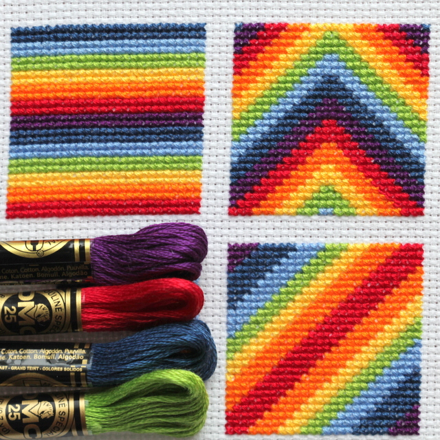 cross stitch rainbow block 5 free chart