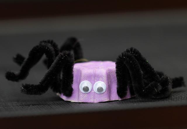 spider egg carton craft