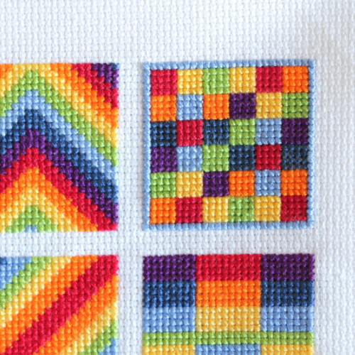 Block 7 Rainbow Cross Stitch