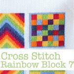 Cross Stitch Rainbow Block 7 Free Chart