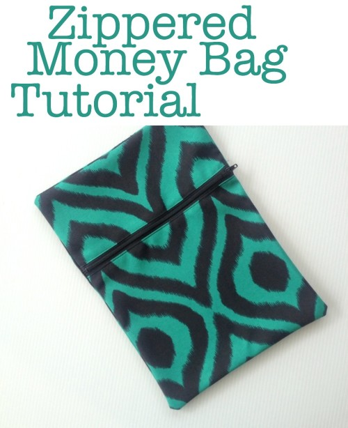 Zippered Money Bag Tutorial