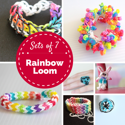 Sets of 7 Rainbow Loom Projects