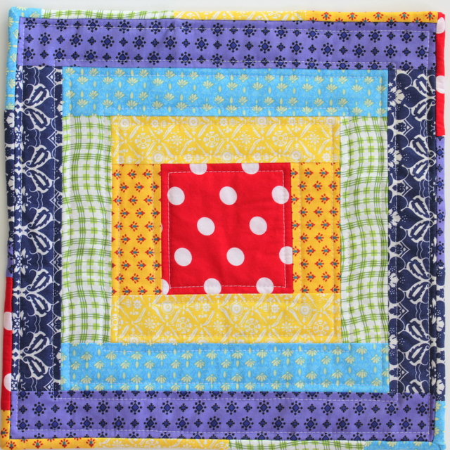 Rainbow Mini Quilt Tutorial The Crafty Mummy Inspiration Mini Quilt Patterns