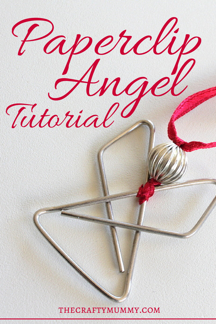 Paperclip Angel Tutorial: make these simple angels with special paperclips, beads and ribbon - great for Christmas gift toppers.